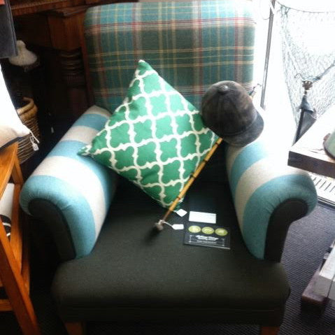 Luxurious Tartan Wool Arm Chair
