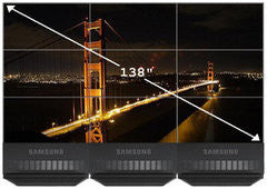 "RENTAL Videowall Samsung 3x3 matrix (46"" x9)"