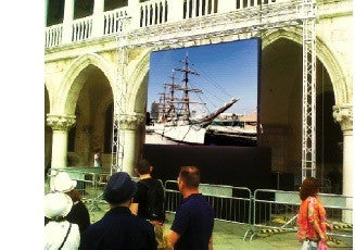 RENTAL LED P10 Outdoor Videowall 3m x 3m