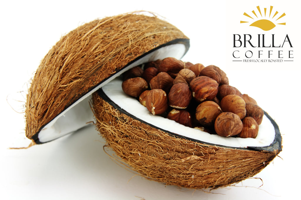 brilla-coffee,Coconut Hazelnut Flavored Coffee,Brilla Coffee,Roasted Coffee