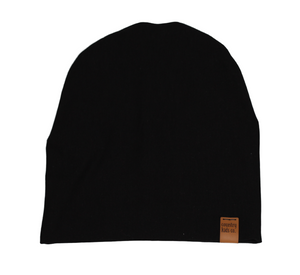 Solid Black Slouchy Beanie