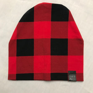 Buffalo Plaid Slouchy Beanie