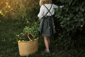 The Buttercup Pinafore Linen Dress