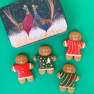Deluxe Gingerbread Men cookie tin