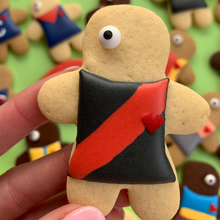 Essendon Bombers player cookies (12 cookie set)