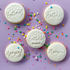Gluten-Free | Happy Birthday cookies