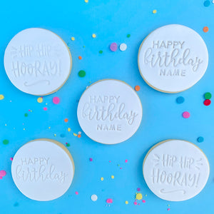 Hip Hip Hooray Birthday cookies