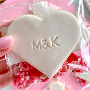 Peppa Lane Bakery Love Hearts MK initial