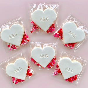 Peppa Lane Bakery Love Hearts six cookies in sealed bags