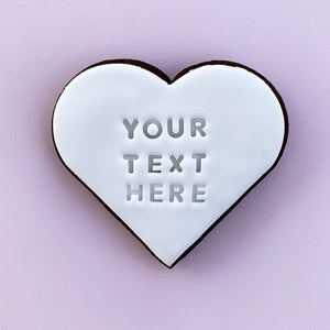 Personalised text cookies