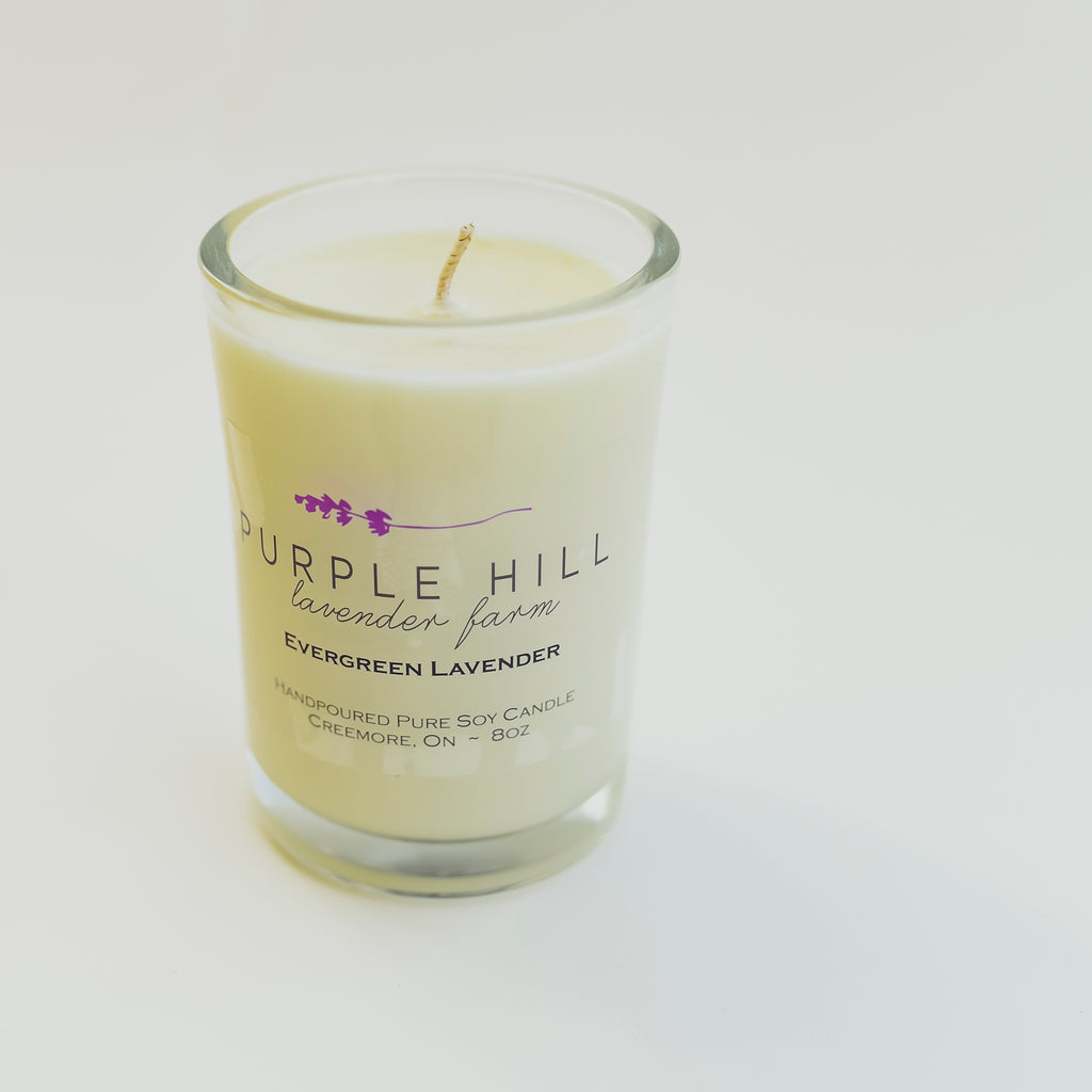Soy Candle: Evergreen Lavender