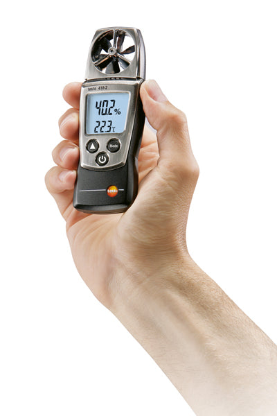 testo 410-2 handy vane probe anemometer with integrated humidity measurement and NTC-air thermometer - 0560 4102