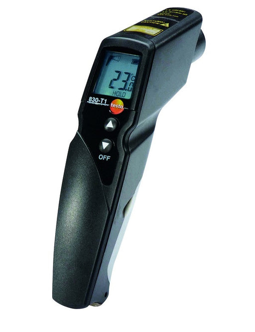 testo 830-T1, infrared thermometer, 1 point laser sighting, 10:1 optics, adjustable limit values, alarm function, incl. - 0560 8311