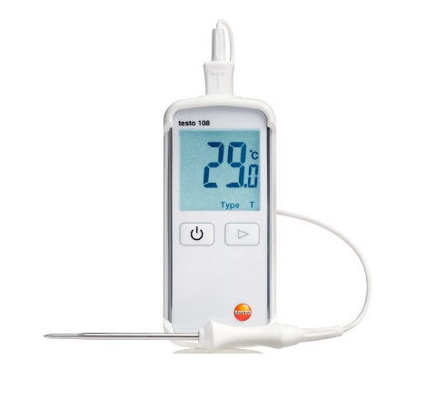 Testo 108, food thermometer with standard immersion/penetration probe - 0563-1080