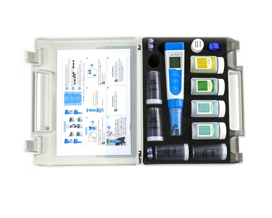 PC60 Premium Multiparameter (pH/EC/TDS/Salinity/Temp.) Pocket Tester Kit