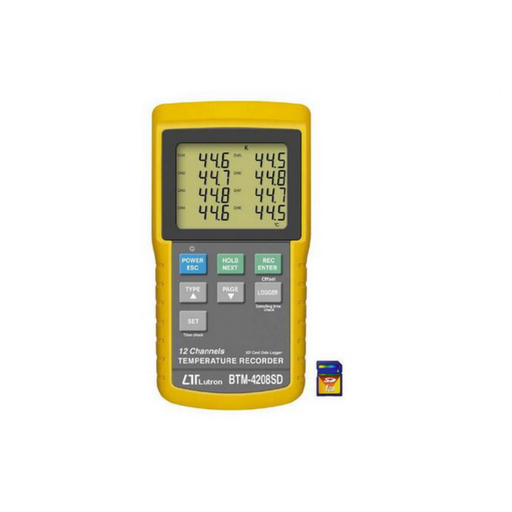 12 Channel Thermocouple Data Logger with SD card - BTM-4208SD