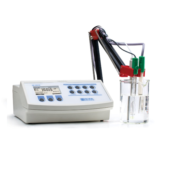 Professional Multiparameter Benchtop pH/mV/ISE and EC/TDS/Resistivity/Salinity Meter - HI3512