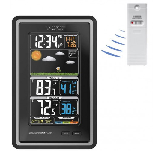 La Crosse Colour Weather Forecast station with Temperature alerts - 308-1425C