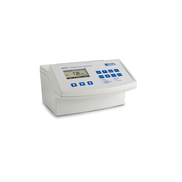 Turbidity And Free, Total Chlorine Benchtop Meter - HI83414