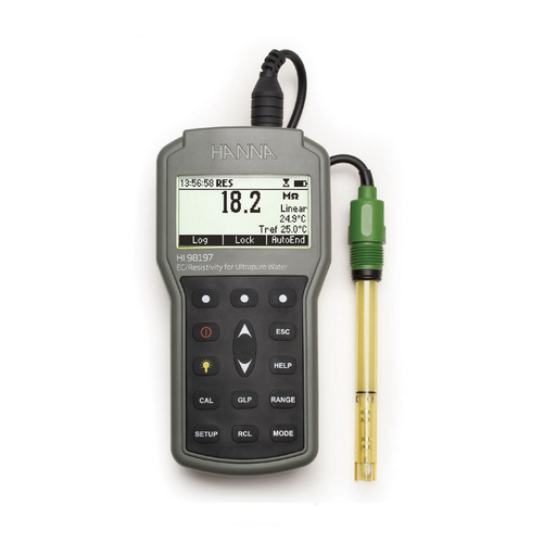 Ultra Pure Water Ec/resistivity Waterproof Meter