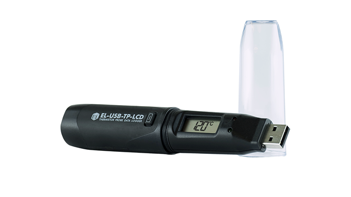 Temperature Probe Data Logger with LCD screen. Includes Temperature Calibration Certificate - EL-USB-TP-LCD CAL-T