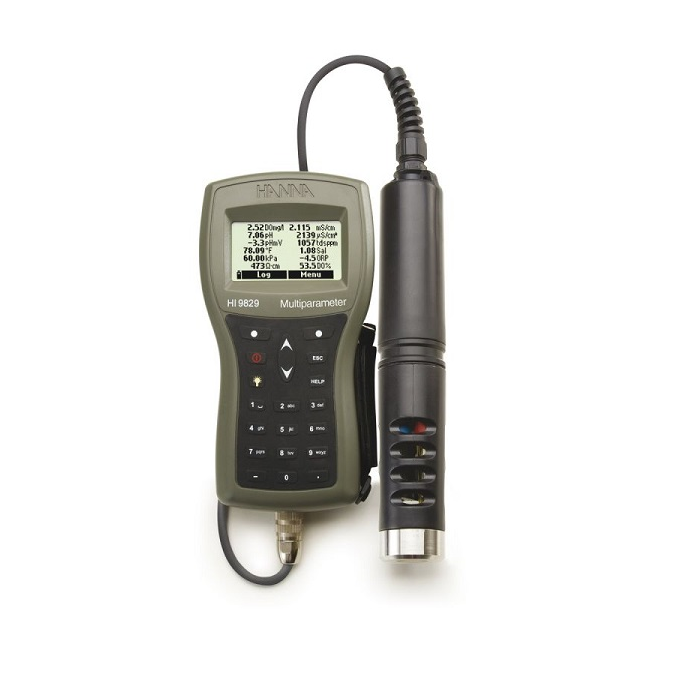 Multiparameter Meter with GPS, Logging and pH / ORP / EC / DO / Turbidity with 4m prob - HI 9829-13042
