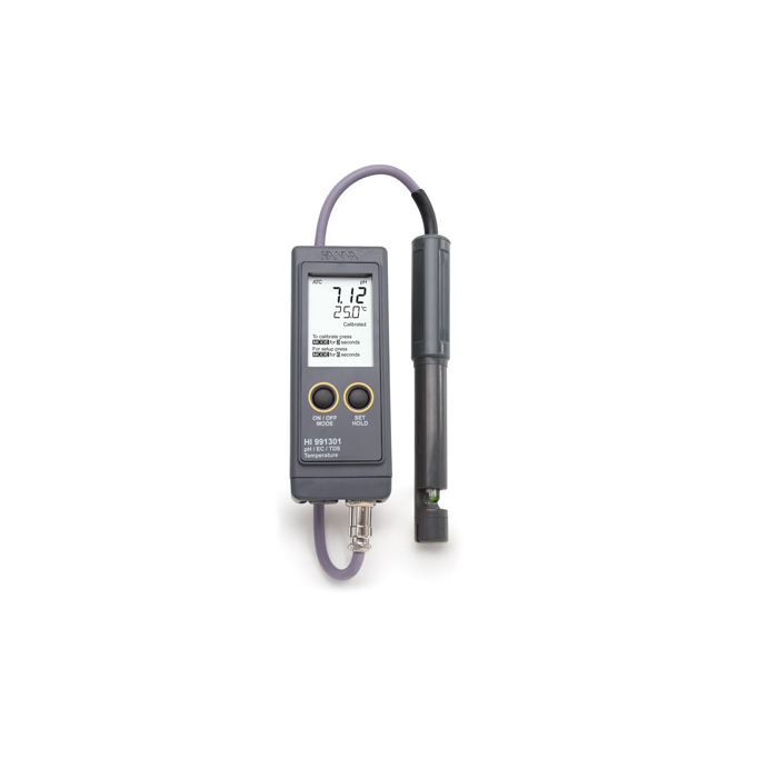 Portable pH, high range EC & TDS and Temperature Meter - HI 991301
