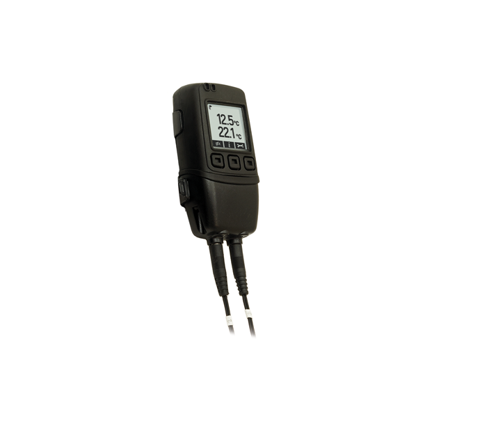 High Accuracy Dual Channel Thermistor Data Logger with Graphic Screen and Audible Alarm - EL-GFX-DTP+