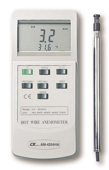 Multi-Function Anemometer With Temperature Hot Wire - AM4204HA