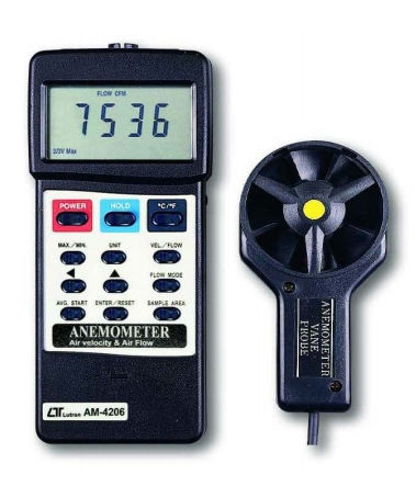 Anemometer - Air Flow & Air Velocity - AM4206