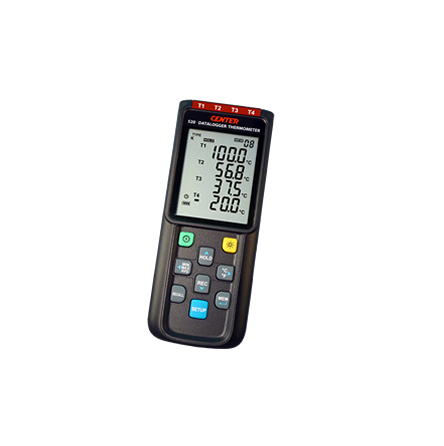 Thermometer (K,J,E,T-Type, 4 Inputs, Datalogger) - CENTER520