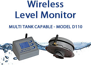 Wireless Fluid Level Monitor Multi Tank with RS232 Serial Port - D110-S