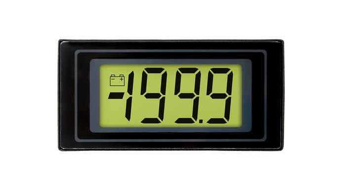 3½ Digit LCD Voltmeter with LED Backlighting - DPM 125-BL