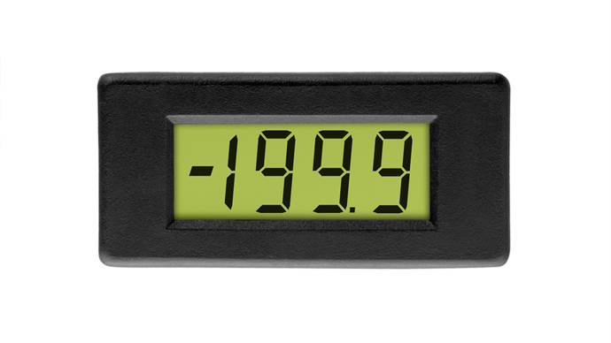 Compact 3½ Digit LCD Voltmeter - DPM 1AS-BL