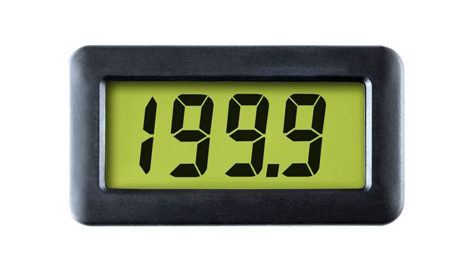 4-20mA Loop Powered LCD Meter with LED Backlighting - DPM 742-BL