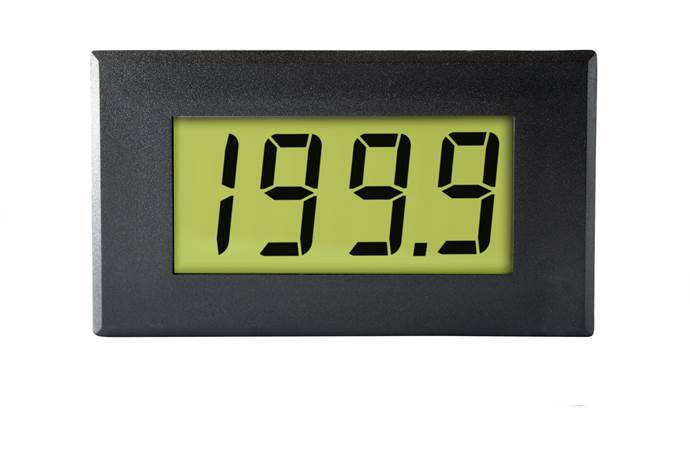 Large LCD Voltmeter with LED Backlighting - DPM 950
