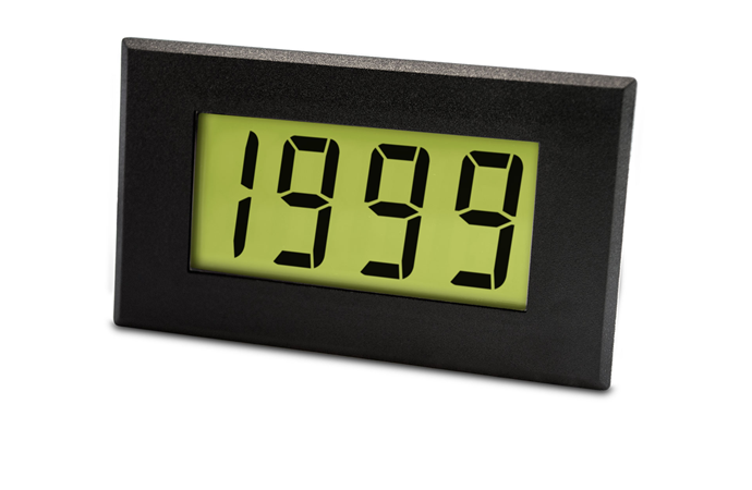 Large AC LCD Voltmeter with LED Backlighting - DPM 970