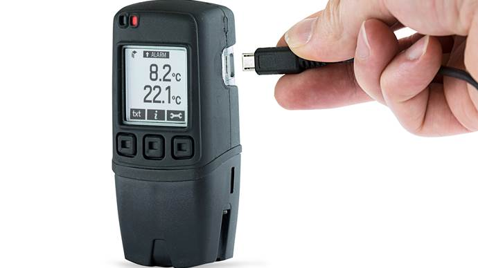 Dual Channel Thermocouple Data Logger with Graphic Screen - EL-GFX-DTC