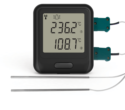 2 Input Thermocouple WiFi Temperature Data Logger - EL-WIFI-DTC