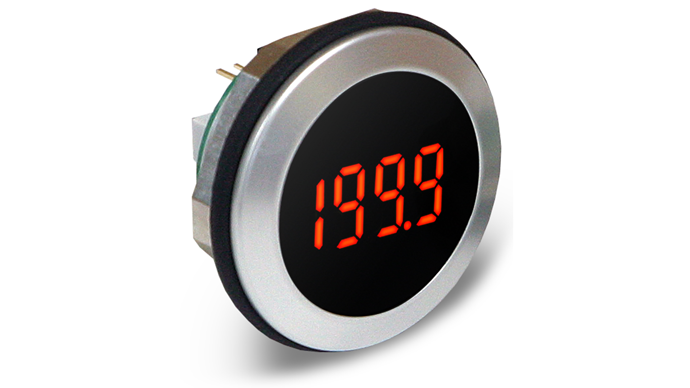 Round Hole Fitting LED Voltmeter - EM32-1B-LED