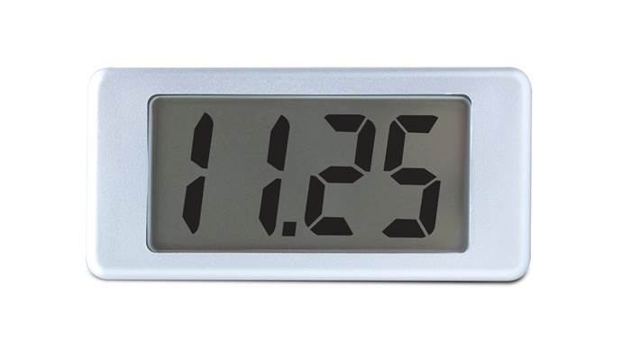 LCD Voltmeter with Single-Hole Mounting - EMV 1125