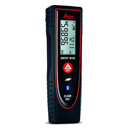 Leica DISTO D110 Compact Bluetooth Smart 60m Laser Distance Measurer Item ID: W106846