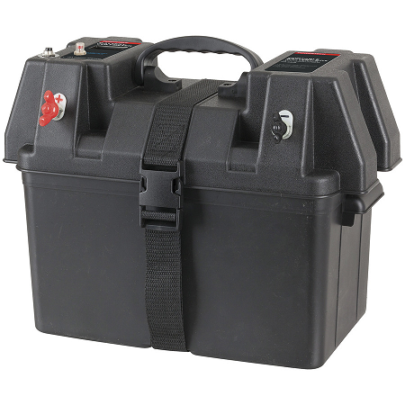 Portable Battery Box with Voltmeter & Power Accessories - HB8500