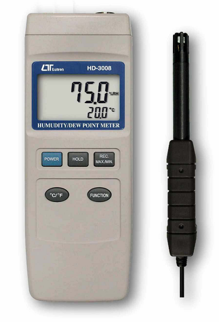 Humidity & Dew Point + Type K Thermometer, RS232 - HD3008
