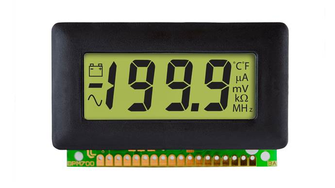 Bezel Mounted LCD Voltmeter with LED Backlighting - DPM 700S