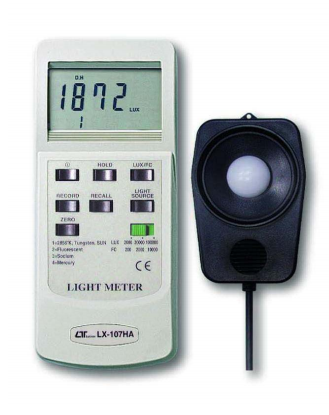 Light Meter (With Selection Of Lighting Type) - LX107HA