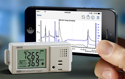 HOBO MX Temperature/Relative Humidity Data Logger - MX1101 - MX1101