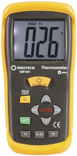 Thermocouple Thermometer - 2 Input - QM1601