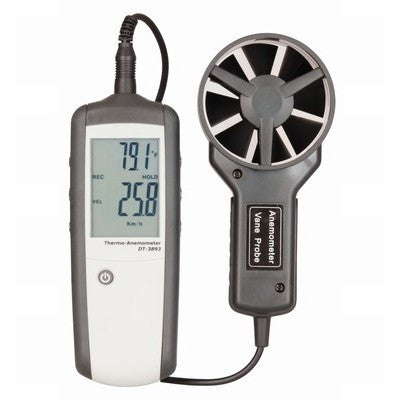 Wind Speed Meter/Thermometer (Anemometer)  - QM1646