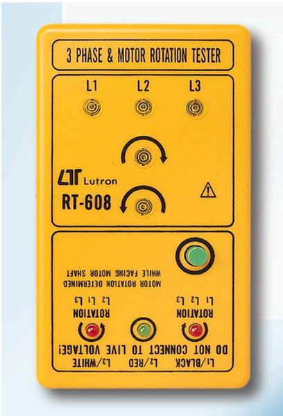 3 Phase/Motor Rotation Tester - RT608